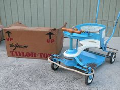 Vintage 1950s Turquoise Blue Taylor Tot Baby Stroller Walker Buggy USA Vintage Stroller, Ol Days, Baby Furniture, Good Ol, Toys For Girls, Bellisima, Baby Strollers, 1950s, Mid Century