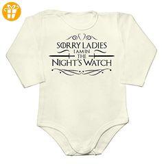 Sorry Ladies I'm In The Night's Watch Fancy Design Baby Long Sleeve Romper Bodysuit Medium - Baby bodys baby einteiler baby stampler (*Partner-Link)