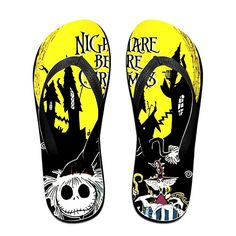 MEIDINGT Women's Or Men's Unisex The Nightmare Before Christmas Flip Flops *** Details can be found by clicking on the image.