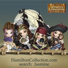 """New Disney / Jasmine / Hamilton project - Pirates of the Caribbean! SO excited for this one, and right now US customers can pre-order the figurines starting with the girl dressed up as Captain Jack Sparrow at the HamiltonCollection.com website - just search """"Jasmine"""" (near the bottom of the page probably) or search item 9907139001 - since it's in the pre-order stage it's only on the US website at first (don't worry Canada & everybody else, when they go into..."""