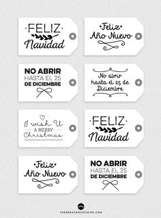 ETIQUETAS IMPRIMIBLES PARA UNOS REGALOS CHULOS, CHULOS Noel Christmas, Christmas Crafts, Christmas Decorations, Xmas, Christmas Printables, Gift Tags, Coloring Books, Diy And Crafts, Gift Wrapping