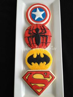 via Cookies with Character Superhero edition