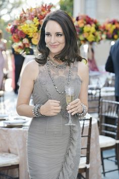 Victoria Grayson is the height of Hamptons glamour in her gray evening gown. jαɢlαdy