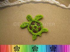 Turtle or Sea Turtle Applique CROCHET PATTERN PDF por EverLaughter