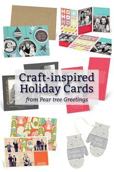 Craft-Inspired Holiday Cards from @peartreegreet at HandsOccupied.com