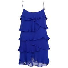 MANGO RUFFLED CHIFFON DRESS (3,030 INR) ❤ liked on Polyvore featuring dresses, vestidos, tops, short dresses, blue dresses, ink, chiffon cocktail dresses, blue mini dress, mango dresses and chiffon ruffle dress