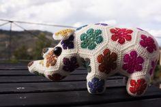 Thandi the African Flower Rhino using Rico Design Superba Poems & Rico Designs Klassik