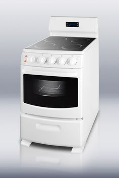 """Lowest price on Summit REX204W 20"""" White Electric Smoothtop Range 