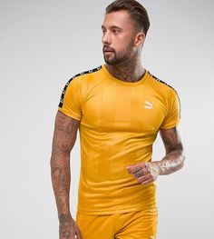 Puma Retro Soccer T-Shirt In Yellow Exclusive to ASOS 57657801 - Yello
