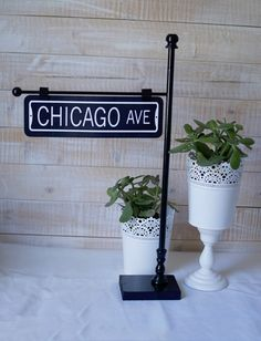 12 Street Sign Post Table Number Holder