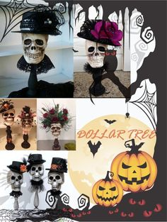 elegant halloween decor Halloween is fast approaching and what is the best way to celebrate it aside from putting up Halloween decorations and trick or treating? Its stepping up Dollar Tree Halloween Decor, Halloween Ghost Decorations, Dollar Store Halloween, Halloween Themes, Halloween Goodies, Halloween Skull, Halloween Crafts, Halloween Oreos, Halloween Party