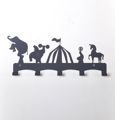 Circus Theme Kids Coat Hanger / Kids Room Ideas / Birthday Gifts For Kids / Baby Shower Gift Ideas / Baby Room Decor