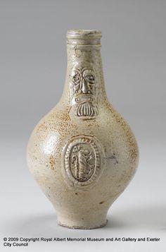 Bellarmine jug, Post Medieval (1500-1750).