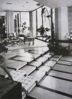 William Haines modern take on Hollywood Regency for the home of Robert and Anne Windfohr in 1954.