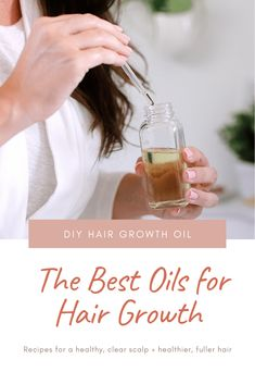DIY Hair Growth Oil with Essential Oils Perfect for Postpartum Hair Fall. This healthy DIY scalp oil for hair growth is loaded with essential oils that boast anti-inflammatory and anti-bacterial properties that help in combating hair fall, stimulating the scalp for growth and more.