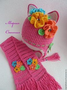 Одежда для девочек, ручной работы. Ярмарка Мастеров - ручная работа шапочки-кошечки. Handmade.