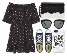 """street style"" by sisaez ❤ liked on Polyvore featuring MANGO, Le Specs, Converse and Casetify"