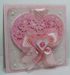 Love Struck Cricut Wedding Card