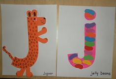 Letter J for jaguar and jelly beans