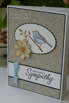 Sympathy cards by CraftyKristi - Cards and Paper Crafts at Splitcoaststampers