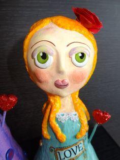 Love - Paper mache doll