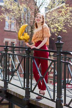 Retro Sonja Fashion Blogger Amsterdam Vintage Spring Outfit Blog anniversary