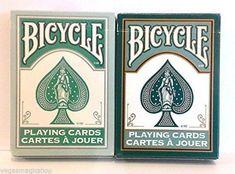 Fashion Teal & Dark Green 2 Deck Set Bicycle Playing Cards