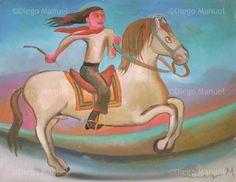 gaucho jinete , acrylic on canvas, 37 x 30 cm. #art #followart  By Diego Manuel