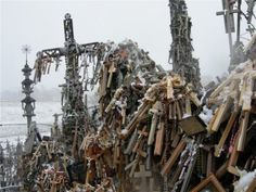 Hill of Crosses in Šiauliai,Lithuania.
