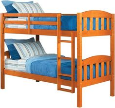 Dorel Twin Over Twin Pine Bunk Bed