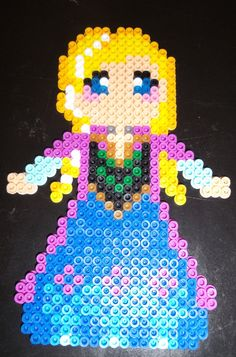 Frozen Inspired Anna perler beads  by BonusLifeJewelry (could do crosstitch too..)