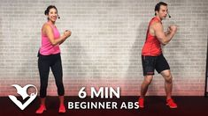 6 Minute Abs Workout for Beginners - Easy Beginner Ab Workout for Women & Men at Home - YouTube