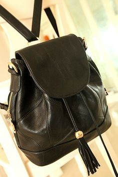 stacy bags new arrival 2014 women preppy style backpack female vintage one shoulder cross-body bag tassel lady bucket bags $20.00