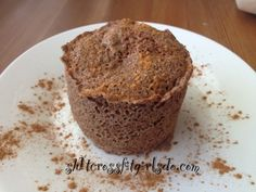 Ripped Recipes - Paleo One Minute Flax Seed Muffin Stevia, Flax Seed Benefits, Ripped Recipes, Protein Bread, Single Serving Recipes, Cinnamon Muffins, Flax Seed Recipes, Paleo Breakfast, Vegan Chocolate