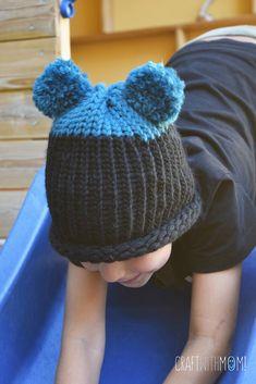 CraftWithMom: Φτιάχνω σκουφάκι - αρκουδάκι με αργαλειό και χωρίς καμία γνώση πλεξίματος!!