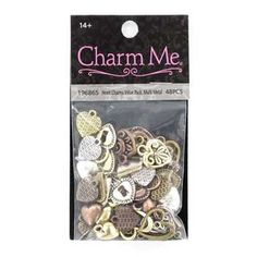 Metal Heart Charms Value Pack