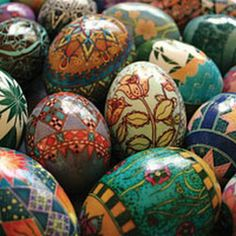 Pysanky Easter Eggs | More here: http://mylusciouslife.com/luscious-loves-easter-eggs-pictures/