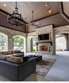 Love the setup of this outdoor patio. / Simmons Estate Homes / Luxury Custom Home Builder / DFW Area Custom Homes / Patio / Outdoor Living - Luxury Interior Estate Homes, House Design, New Homes, Outdoor Living Space, House Plans, Luxury Homes, House, Home, House Exterior