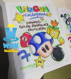 Luigi, Diana, Doodles, David, Snoopy, Lettering, School, Anime, Fictional Characters