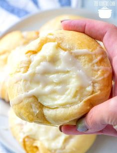 Crescent Roll Cheese Danishes is part of Cream cheese crescent rolls - Crescent Roll Cheese danishes are a shortcut version of our favorite bakery danishes! Simple but delicious Dessert or breakfast! Mini Desserts, Köstliche Desserts, Delicious Desserts, Plated Desserts, Cream Cheese Crescent Rolls, Crescent Roll Recipes, Cresent Roll Dessert Recipes, Crescent Roll Cheese Danish Recipe, Recipes With Crescent Rolls Breakfast