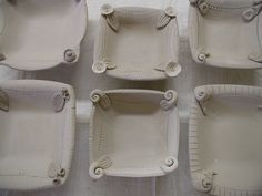 More of These by clayplant, via Flickr... combine corner idea with drop mold platters?