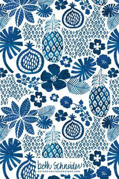 In The Tropics pattern design by Beth Schneider