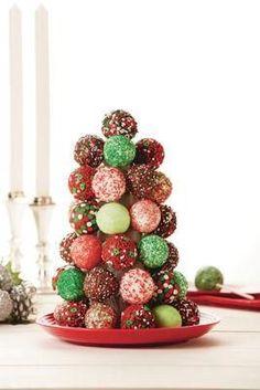 Christmas Cake Pop Tree