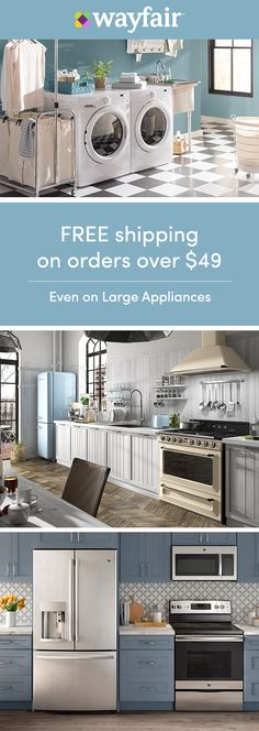 Sign up for access to exclusive sales, all at up to 70% OFF! Refrigerator on the fritz? Washing machine destroying your delicates? Treat yourself to top-branded appliances in every size, shape, and style. Whether you're overhauling the kitchen, refreshing the laundry room, or anything in between, we have the selection to get the job done. The best part? If it costs over $49, we'll ship it for FREE.
