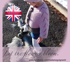 Flowers bloom kids Poncho Sizes: XS, S, M (Age years) (Height Measurements: Approx. Needles sizes: Circular needle Materials: DROPS ANDES from Garnstudio Wool, Alpaca 90 m. Kids Poncho Pattern, Handmade Clothes, Handmade Gifts, Leg Warmers, 6 Years, Knitting Patterns, Bloom, Trending Outfits, Flowers