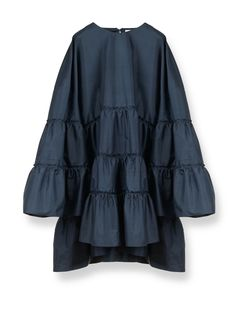Parachute dress in shantung silk