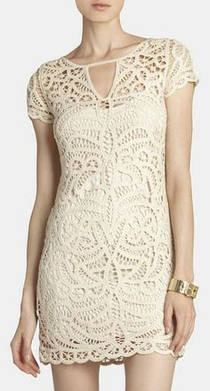 """Lace dress.  Pretty for summer! Pinned to the  """"How to Wear Lace"""" board by BaubleBabe Jewelry."""