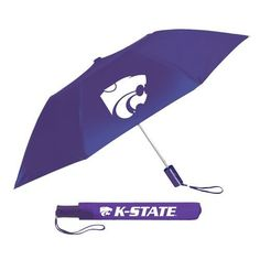 Storm Duds Adults' Kansas State University 42 Automatic Folding Umbrella (Purple, Size ) - NCAA Licensed Product, NCAA Accessories at Academy Sports