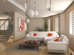 Aménager un #salon avec des couleurs neutres, des plantes et des matériaux en bois permet d'obtenir une ambiance zen. Tout ce qui vous rappellent la nature et le calme.