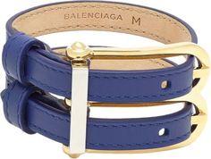 "Balenciaga Leather ""B"" Bracelet at Barneys New York"